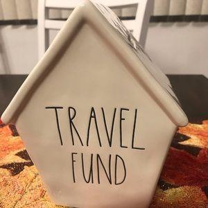 Rae Dunn Travel Fund ceramic money bank